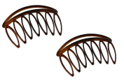 Parcelona French Swift Medium 7 Teeth Celluloid Shell Side Hair Combs