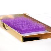0.07 Mixed Lengths Dark Purple Pastel Rainbow Individual Eyelash Extensions Purple Eyelashes for Makeup