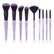 Ammiy Makeup Brushes Marble Texture Professional Makeup Brush Set Synthetic Foundation Kabuki Brushes for Blending Blush Eyeliner Face Powder Beauty Tool