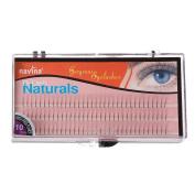 EA-STONE 102PCS D-Lash 3 Root Thickness Natural Long Black Individual False Eyelashes Mink Eyelashes Long Extension Fake Eyelashes Makeup Tool