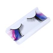 Stage Feather False Eyelash, Dressin Women Fancy Soft Long Feather False Eyelashes Eye Lashes Makeup Party Club