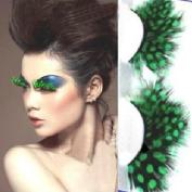 False Eyelash, Dressin Women Fancy Soft Long Feather False Eyelashes Eye Lashes Makeup Party Club