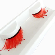 Franterd Red Wave False Eyelashes - A pair Halloween Party Makeup Arts Eye Lashes