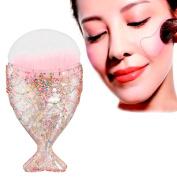 FANOUD Fish Scale Makeup Brush Fishtail Bottom Brush Powder Blush Makeup Cosmetic Brush