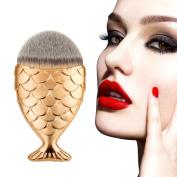 Snowfoller Fashion Cosmetic Tool Fish Scale Makeup Brush Fishtail Bottom Brush Powder Blush Makeup Cosmetic Brush