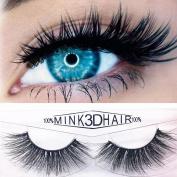 Franterd 3D Reusable False Eyelashes, Long Fake Eye Lashes, 1 pair Natural Handmade Extension Luxury Fluffy Strip Eye Lashes Beauty Cosmetic