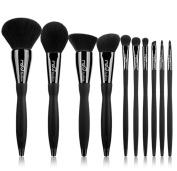 MSQ Makeup Brush Set 10pcs Professional Cosmetic Brushes Kit Diamond Decoration Brush for Foundation, Powder, Blush, Contour,Blending,Eyeshadow,Eyebrow,Eyeliner,Lip