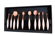 The Beauty Box 10 Piece Brush Collection White/Rose Gold