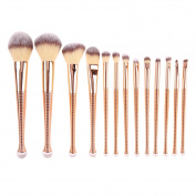 13pcs Make up Brushes Foundation Blending Powder Eyeshadow Contour Concealer Blush