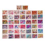 44pcs Water Nail Sticker Flower Decals Transfer Foil Floral Design Nail Art