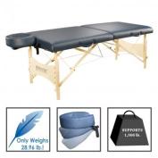 Best Massage Portable SPA Massage Table Package Royal Blue 60cm