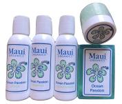 Maui Organics Hawaii Ocean Passion Travel Bath Set