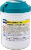 Pdi Inc. Pyq08472 Sani-Cloth Hb Germicidal Disposable Disinfectant Wipes 6 X 6-3/4 Large,Pdi Inc. - Tub 160 by Professional Disposables
