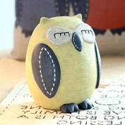 Eastyle Owl Piggy Bank Yellow Coin Bank,Perfect for Kids Christmas/ Birthday /Thanksgiving Gift