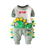 Dirance Toddler Kids Cartoon Dinosaur Pattern Tops+Pants 2PCs Baby Boys Girls Outfits Set
