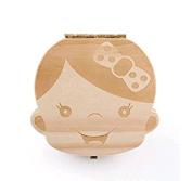 Hosaire Baby Teeth Box Child Milk Teeth Saver Wood Keepsake Organiser Deciduous Souvenir Box Baby Tooth Box English Girl