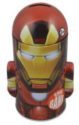 MARVEL HEROES AVENGERS - IRON MAN - BULLET SHAPE TIN COIN BANK
