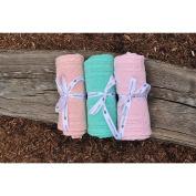 Pink Lemonade Cable Mix Baby Blanket Brown