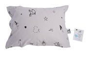 My lovely little Pillow case, soft organic jersey cotton, safe and healthy - Grey - Origami-Childhood