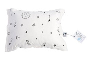 My lovely little Pillow case, soft organic jersey cotton, safe and healthy - White - Galaxy Star