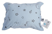 My lovely little Pillow case, soft organic jersey cotton, safe and healthy - Blue - Galaxy Star