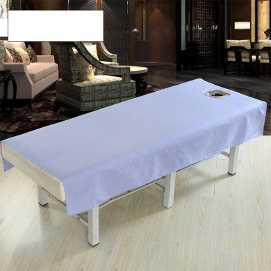 Zehui Sheet with Face Hole Pure Colour Cotton Waterproof Fashion Beauty Salon Body Spa Massage Table Cloth Bed Cover Violet