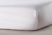 Oilo ZigZag Jersey Crib Sheet, Blush