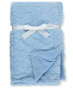 Coney Isle Plush Baby Blanket - blue, one size