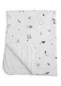 Baby Crib Blanket 100% Organic Cotton, Skin Safe Organic Fabric, White - Origami Childhood