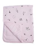 Baby Crib Blanket 100% Organic Cotton, Skin Safe Organic Fabric, Pink - Origami Childhood
