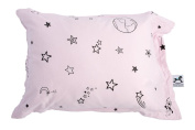 My lovely little Pillow case, soft organic jersey cotton, safe and healthy - Pink - Galaxy Star