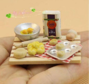1/12 Miniature Kitchen Household Model Food Breads Pastry Making Production Units Picnic play Toy