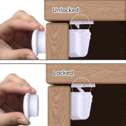 Weirdbeast Safety Baby Magnetic Cabinet Locks Baby Child Kids Proof Drawers Furniture Security Locks Set with 3M Adhesive - No Tools Or Screws Needed