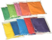 Buycrafty 25 Assorted Colour Powder Packets 75g each - Ideal for colour run events, youth group colour wars, Holi events,Festival Colours