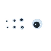 Freedi 120Pcs Black Wiggle Googly Eyes with Self-adhesive DIY Scrapbooking Crafts Toy