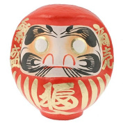 "1pc Japanese 7-3/4h""red/good Fortune Daruma Doll"