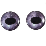 40mm Pair of Dark Purple Unicorn Glass Eyes, for Jewellery making, Arts Dolls, Sculptures, and More