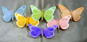 Feather Pastel 20cm Butterflies, 6 Butterflies