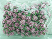 100 Pink Rose Mulberry Paper Flower Scrapbook Wedding Craft 1cm