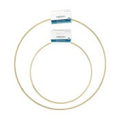 Craft Medley WR108 1 Piece Round Brass Rings, 20cm and WR112 1 Piece Round Brass Rings, 30cm
