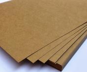 WellieSTR 20 Pieces A3 Kraft Paper - Natural Kraft Paper - 450 GSM - 40x27cm/15.7x10.6 inch For Leathercraft DIY