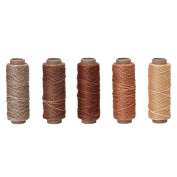 5 pcs/lot 0.8mm Durable Leather Waxed Thread Cord for DIY Handicraft Tool Hand Polyester Stitching Thread (Colour you choose)