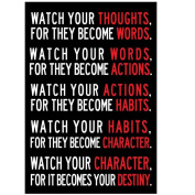 Wall Sticker, Hatop 33cm x 48cm Creative Watch Your Thoughts Motivational Poster