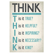 Poster, Hatop 3045cm Think Before You Speak Classroom Reading and Writing Poster