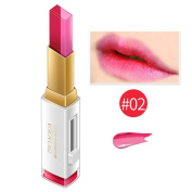 ESCENERY 3D Lipstick t Two-Colour Three-Dimensional Square GradienDouble Diting Lip