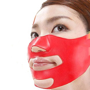 MELADY Fashion Silica gel Anti Wrinkle Jaw Pulling Thin Double Chin Compact Type V Line Face-lift Belt Mask Facial Exercisers