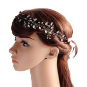 THK-Wedding Crystal Wedding Hairpiece Comb wedding headband Bridal Floral Wedding Headband Hair Vine Headpiece