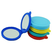 MELADY Mini Portable Pocket Makeup Mirror Silica Gel Double Sides (One is Normal,Another is Magnifying)