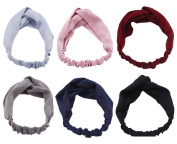 STHUAHE 6 PCS Women Fashion Hairbands,Elastic Cross Hair Band Headband Headwear Headwrap Hair Accessories