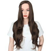 AISI HAIR Women Long Wig Wavy Synthetic Hair Wigs Big Wavy Brown Hair Heat Resistant Wig